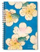 Vintage Japanese Illustration Of Dogwood Blossoms Spiral Notebook