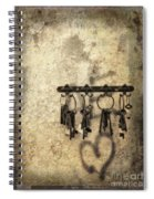 Vintage Keys Spiral Notebook