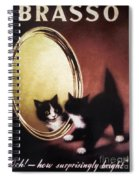 Vintage Kitty Cat Spiral Notebook