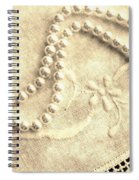 Vintage Lace And Pearls Spiral Notebook