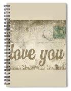 Vintage Love Letters Spiral Notebook