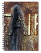 Vintage Machinery 8 Spiral Notebook