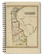Antique Map Of Delaware Spiral Notebook