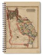 Antique Map Of Georgia Spiral Notebook