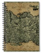 Vintage Map Of Ireland 1771 Spiral Notebook