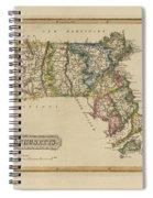 Antique Map Of Massachusetts Spiral Notebook