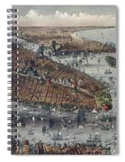 Vintage Map Of New York And Brooklyn Circa 1875 Spiral Notebook