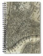 Vintage Map Of New York City - 1842 Spiral Notebook
