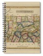 Antique Map Of Pennsylvania Spiral Notebook