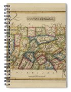 Antique Map Of Pennsylvania Spiral Notebook