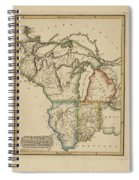 Antique Map Of Upper Territories Of The United States Spiral Notebook