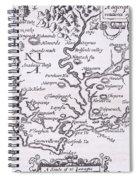 Vintage Map Of Virginia Spiral Notebook