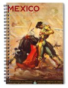Vintage Mexico Bullfight Travel Poster Spiral Notebook