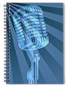 Vintage Microphone Pop Art Spiral Notebook