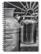 Vintage Milk In Black And White Spiral Notebook