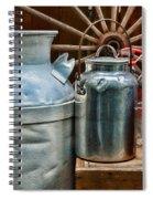 Vintage Milk Spiral Notebook