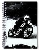 Vintage Motorcycle Racer Spiral Notebook