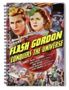 Vintage Movie Posters, Flash Godon Conquers The Universe Spiral Notebook
