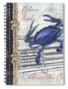 Vintage Nautical Crab Spiral Notebook
