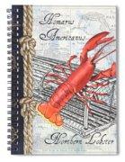 Vintage Nautical Lobster Spiral Notebook