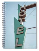 Vintage Neon Sign Hotel Livingston Montana Spiral Notebook