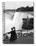 Vintage Niagara Falls - View From Goat Island - 1908 Spiral Notebook