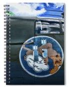 Vintage Nose Art B-25j Mitchell Spiral Notebook