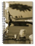 Vintage Notions In Sepia Tones Spiral Notebook