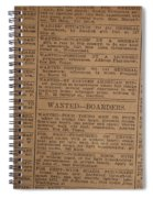 Vintage Old Classified Newspaper Ads Spiral Notebook
