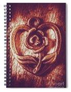 Vintage Ornamental Rose Spiral Notebook