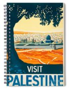 Vintage Palestine Travel Poster Spiral Notebook