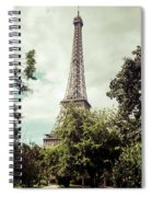 Vintage Paris Landscape Spiral Notebook