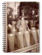 Vintage Paris Men's Fashion Spiral Notebook