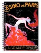 Vintage Paris Showgirl Spiral Notebook