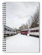 Vintage Passenger Train Cars In Winter Spiral Notebook
