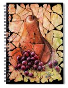 Vintage  Pear And Grapes Fresco   Spiral Notebook