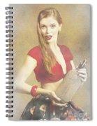 Vintage Perfume Advertisement Circa 2015 Spiral Notebook