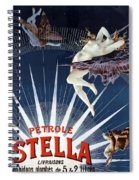 Vintage Petrole Stella Poster Spiral Notebook