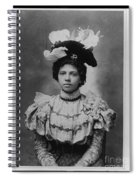 Vintage Photo Of Young Pretty Colored Lady Spiral Notebook