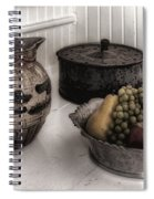 Vintage Pitcher, Pan, And Fruit Bowl Spiral Notebook