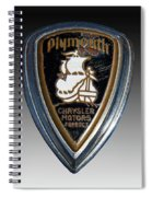 Vintage Plymouth Car Emblem Spiral Notebook