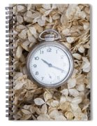 Vintage Pocket Watch Over Dried Flowers Spiral Notebook
