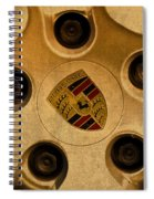 Vintage Porsche Wheel Logo Spiral Notebook