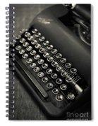 Vintage Portable Typewriter Spiral Notebook