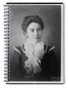 Vintage Portrait Of Young Lady Spiral Notebook