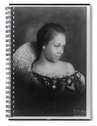 Vintage Portrait Photo Of Young Pretty Colored Lady Spiral Notebook