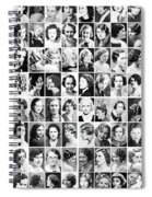 Vintage Portrait Photos Depict Womens Hairstyles Of The 1930s  - Doc Braham - All Rights Reserved. Spiral Notebook