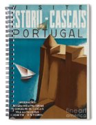 Vintage Portugal Travel Poster Spiral Notebook