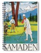 Vintage Poster Advertising Samaden In Switzerland Spiral Notebook