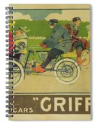 Vintage Poster Bicycle Advertisement Spiral Notebook
